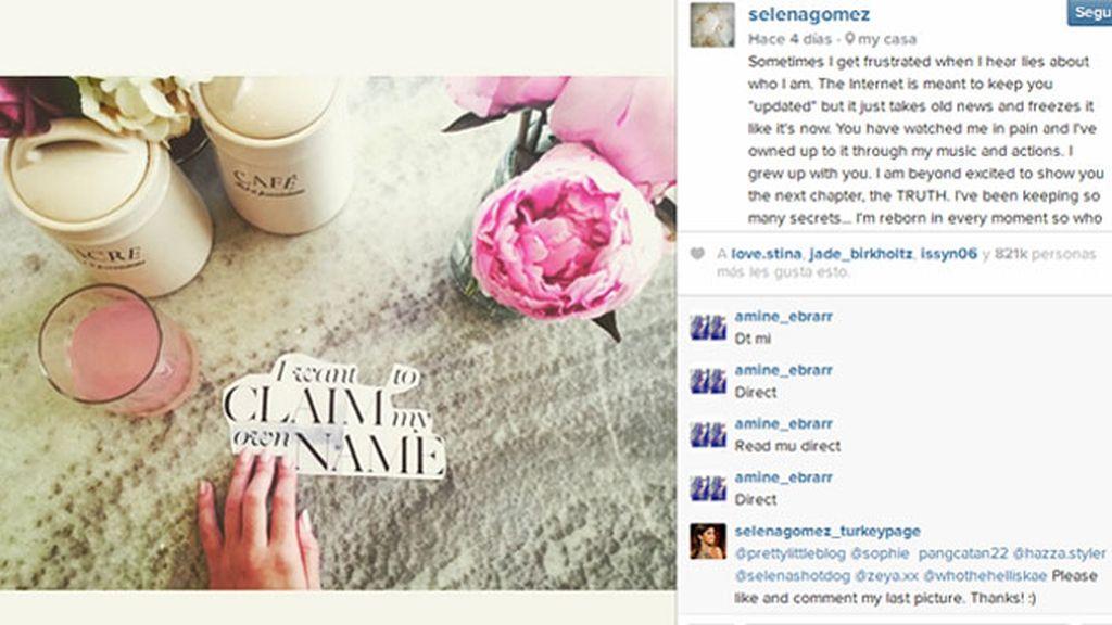 Selena Gomez cansada de mentiras estalla a través de su cuenta de Instagram