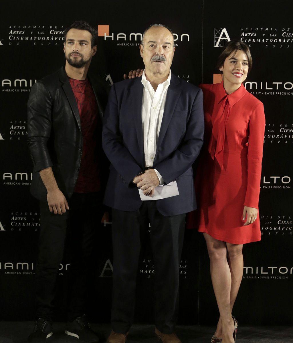 Jesús Castro, Adriana Ugarte y Antonio Resines