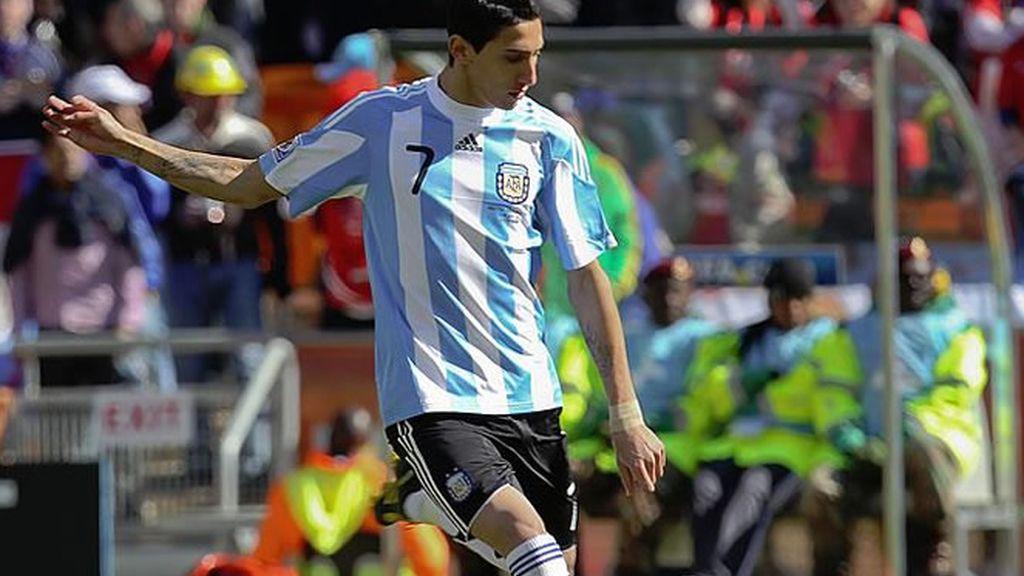 Di María, en Sudáfrica con Argentina, espera que el fichaje se oficialice de inmediato.