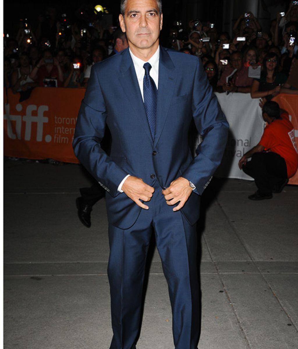 George Clooney y Stacy Kleiber, fotografiados juntos pero no revueltos