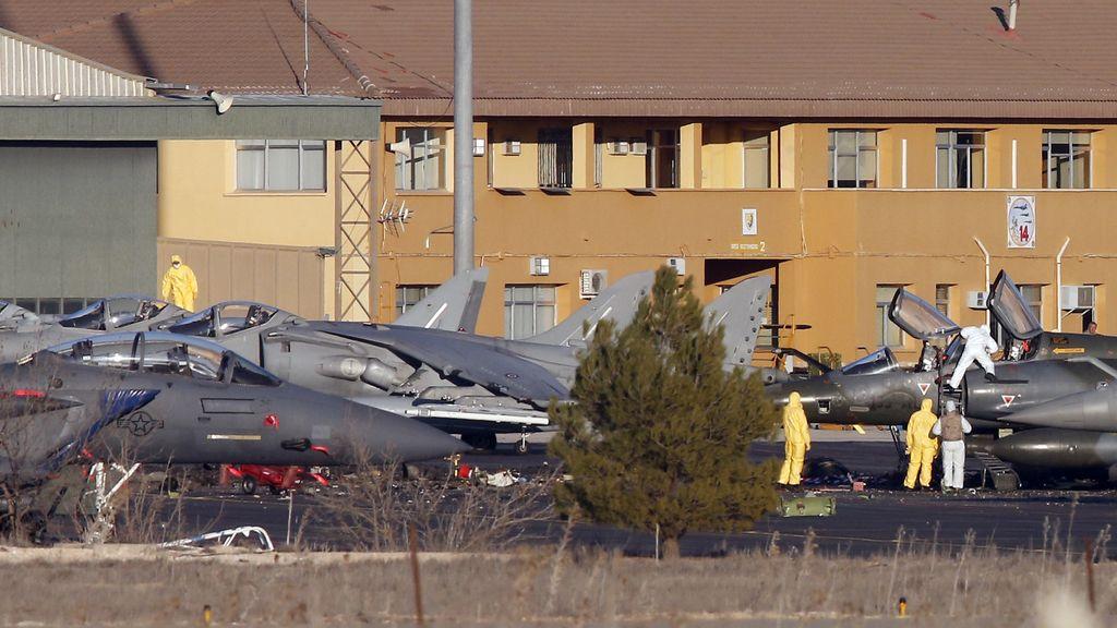 Varios cazas de la OTAN estacionados en la base de Los Llanos, Albacete