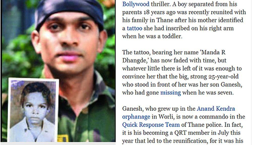 Joven indio encuenta a su madre 18 años más tarde gracias a un tatuaje