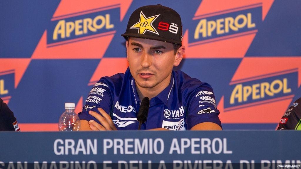Jorge Lorenzo en la rueda de prensa del GP de San Marino