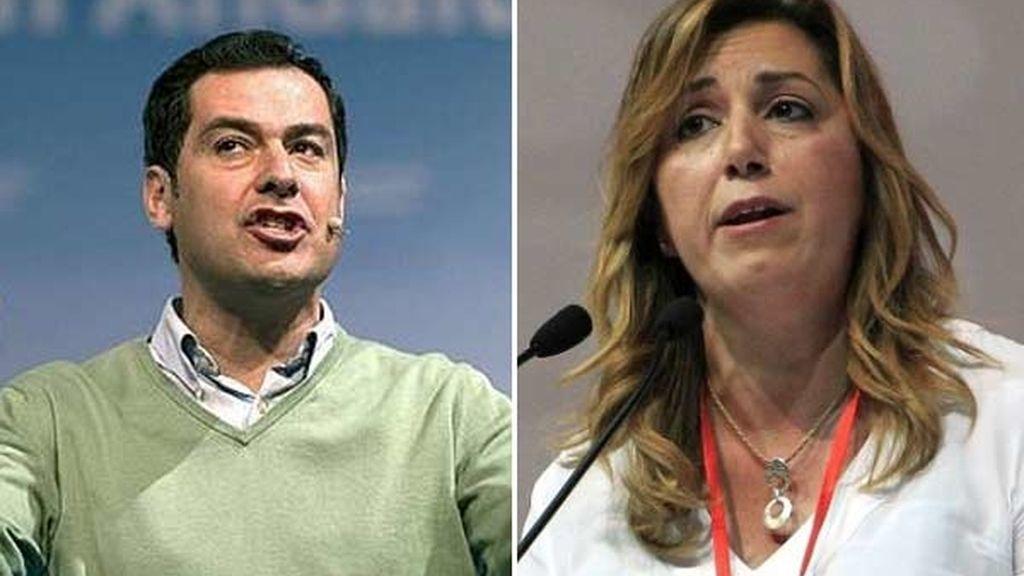 Los candidatos del PP y del PSOE a la Junta de Andalucía