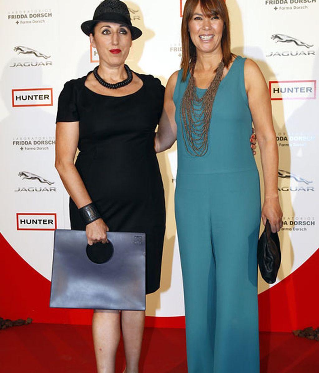 Mabel Lozano y Rossy de Palma posaron juntas en el 'photocall'