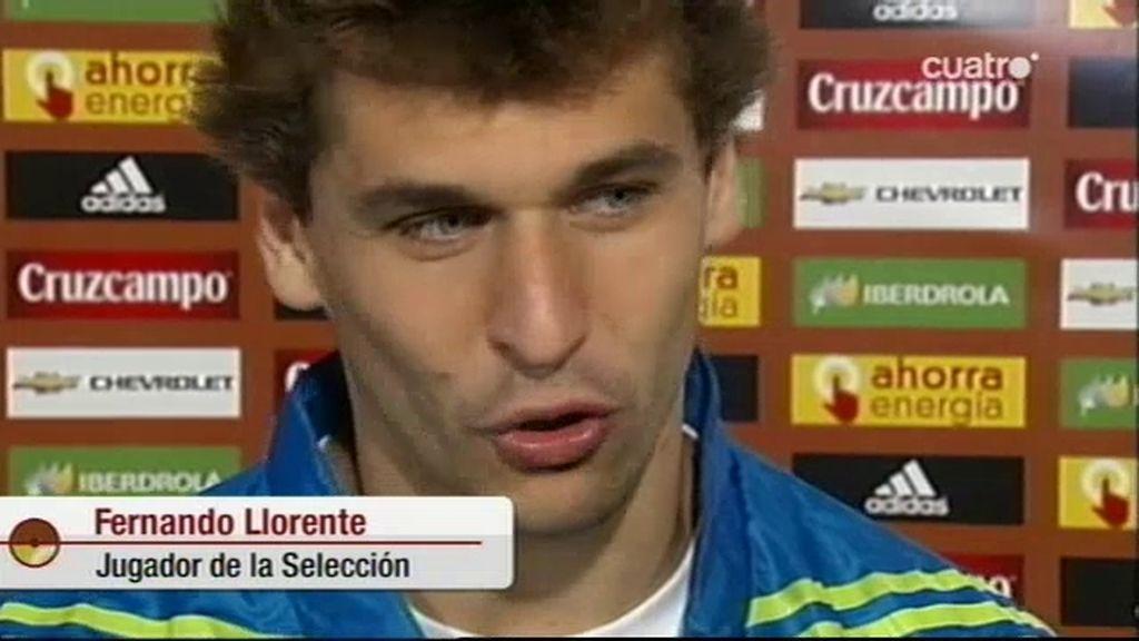 Llorente, tras su debut con La Roja en Logroño