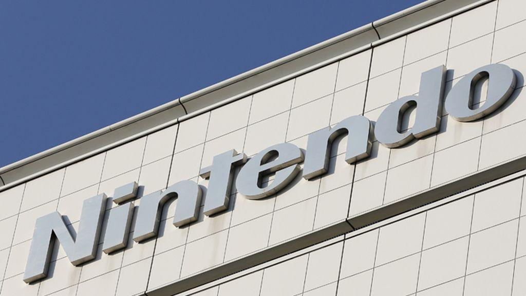 Logotipo de Nintendo en la sede central de la compañía en Tokio (Japón)