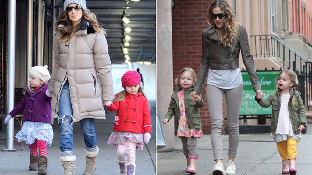 Las gemelas de Sarah Jessica Parker siempre van idénticamente vestidas