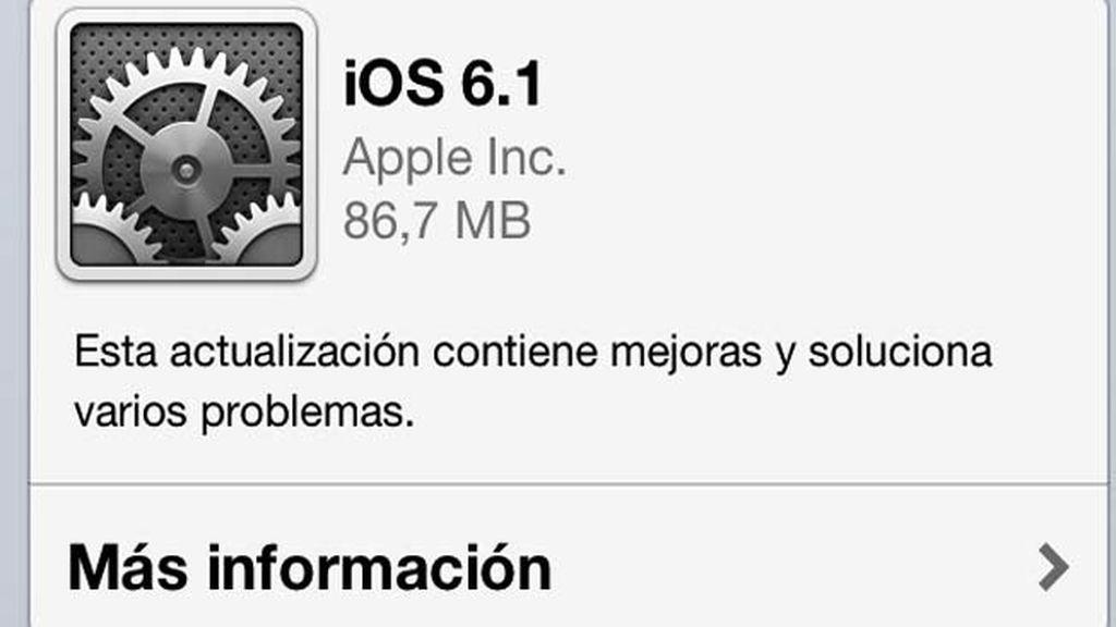 iOS 6.1 ya está disponible