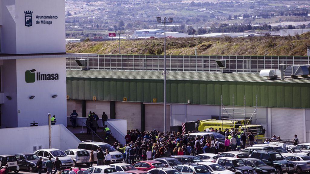 Asamblea de trabajadores del servicio de limpieza de Málaga