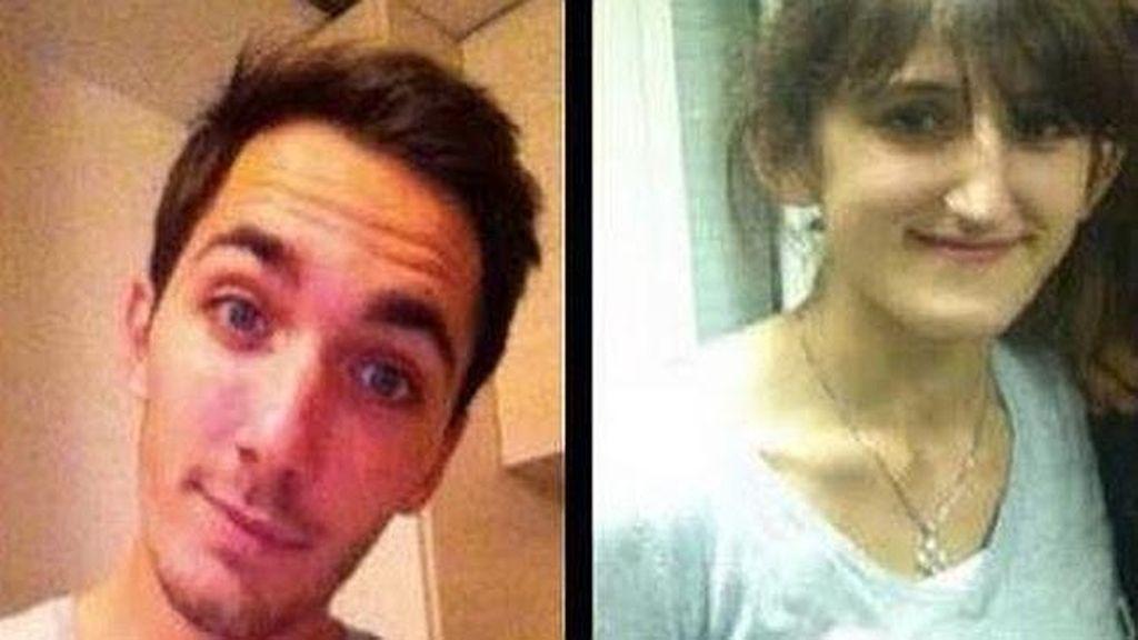 Sarah Mazerolles, de 21 años, y Julien Piguet, de 22, estudiantes franceses desaparecidos en Zaragoza