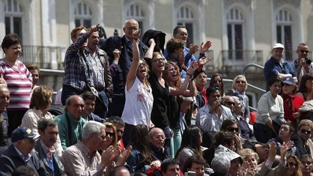 Ciudadanos protestan aprovechando un acto político en Madrid