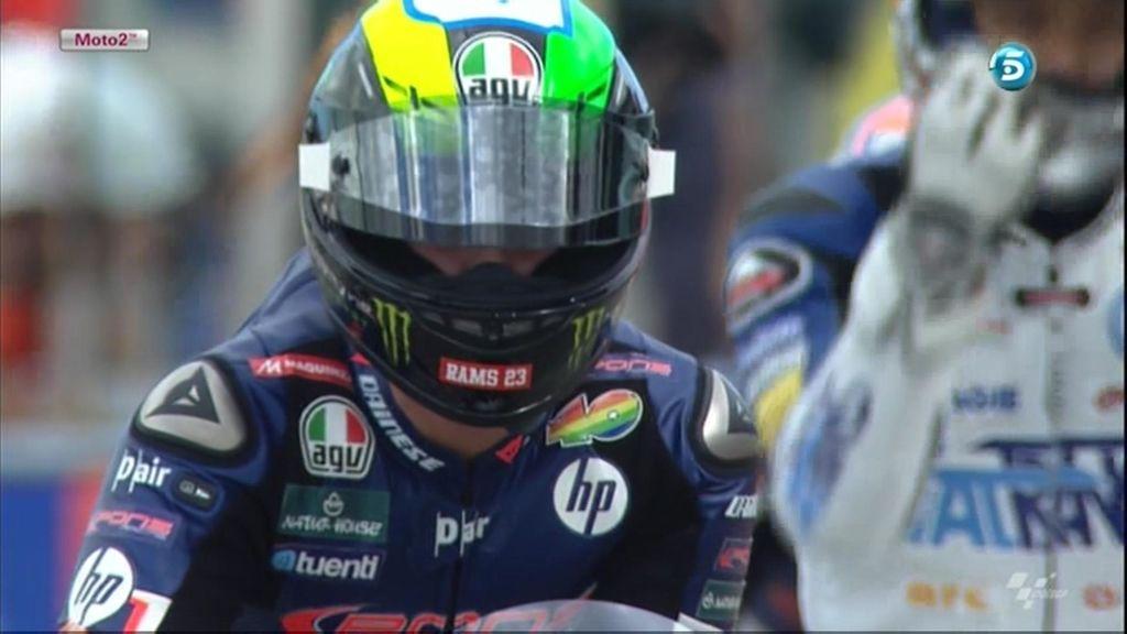 Polyccio, concentrado antes de la carrera de Moto2