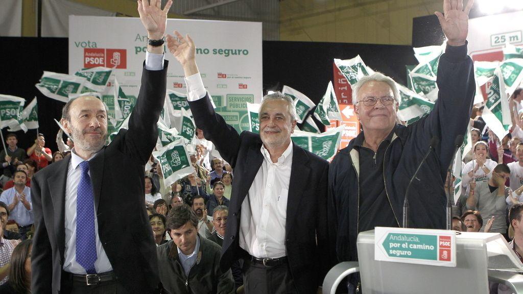 Rubalcaba, Griñán y González