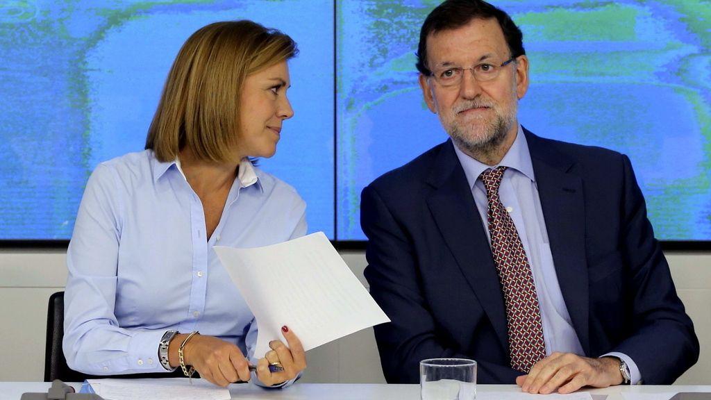 Rajoy y Cospedal aseguran que el PP actuará contra los usuarios de las 'tarjetas b'