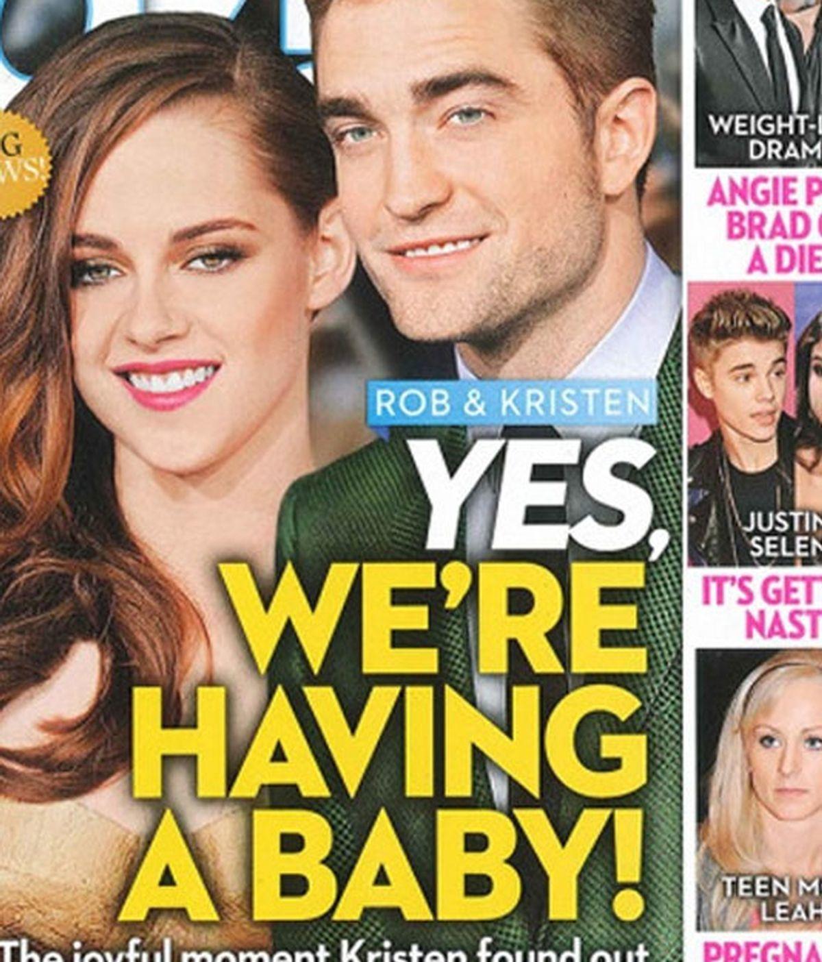 Kristen Stewart y Robert Pattinson portada de la revista OK!