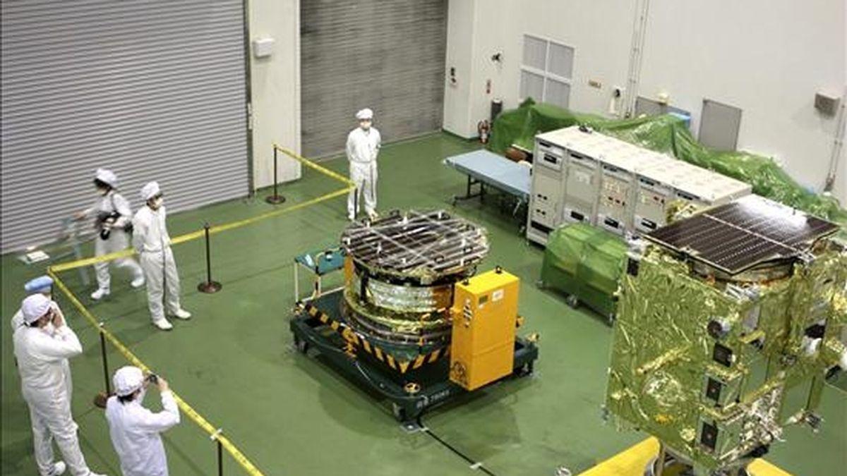 """Fotografía cedida por la Agencia de Exploración Aeroespacial de Japón de su sonda """"Akatsuri"""" (Aurora), que fracasó en su intento de colocarse en la órbita de Venus, casi siete meses después de haber sido lanzada desde la Tierra. EFE"""