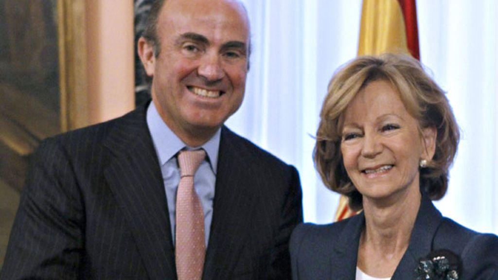 Luis de Guindos y Elena Salgado