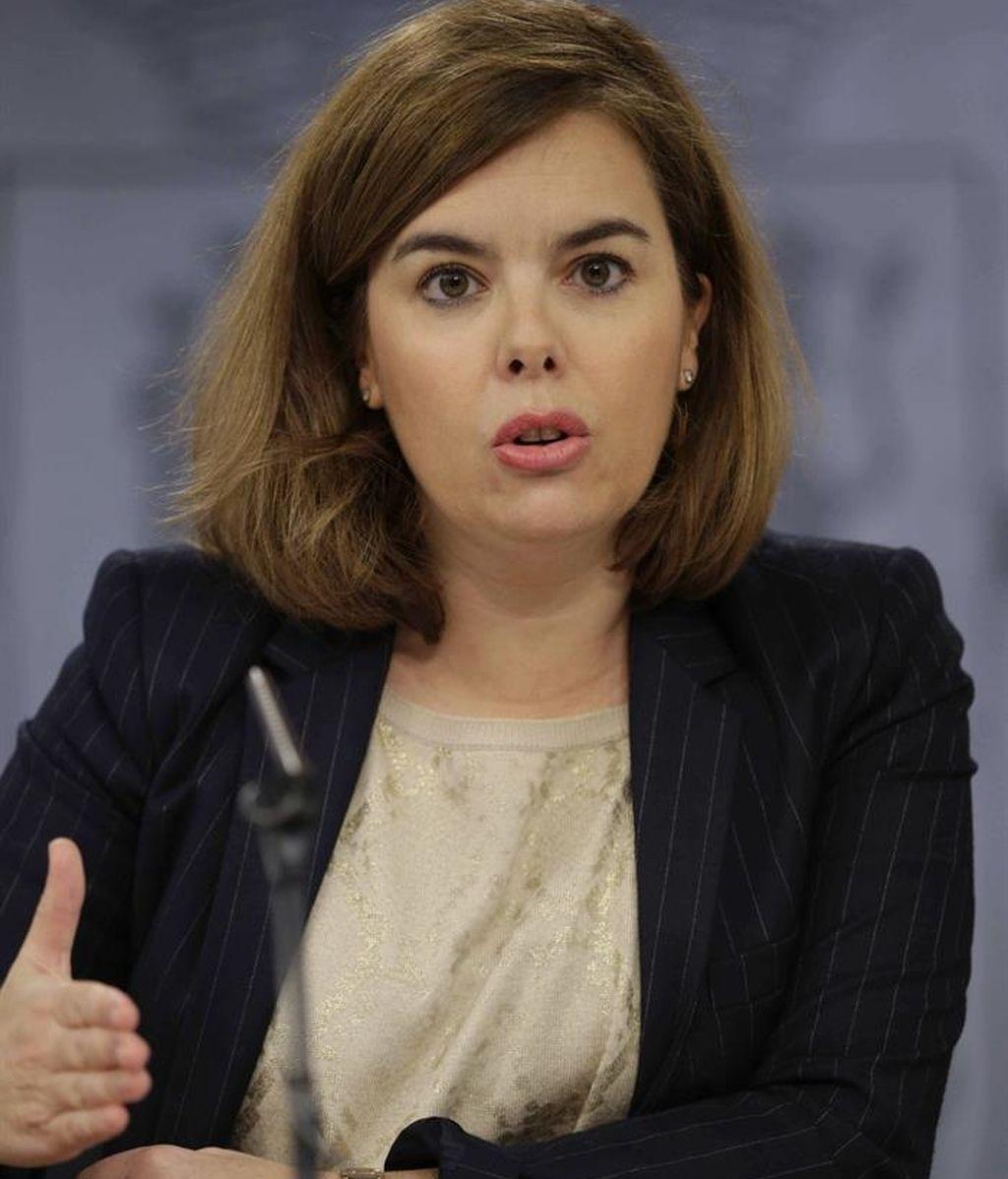 Soraya Sáenz de Santamaría arremete contra Podemos