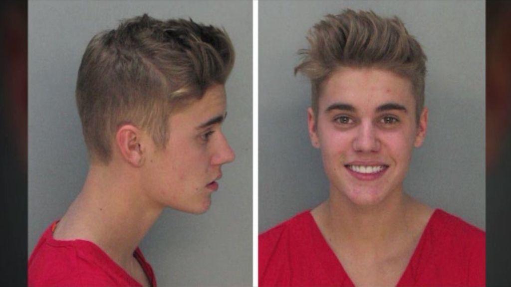 La ficha policial de Justin Bieber