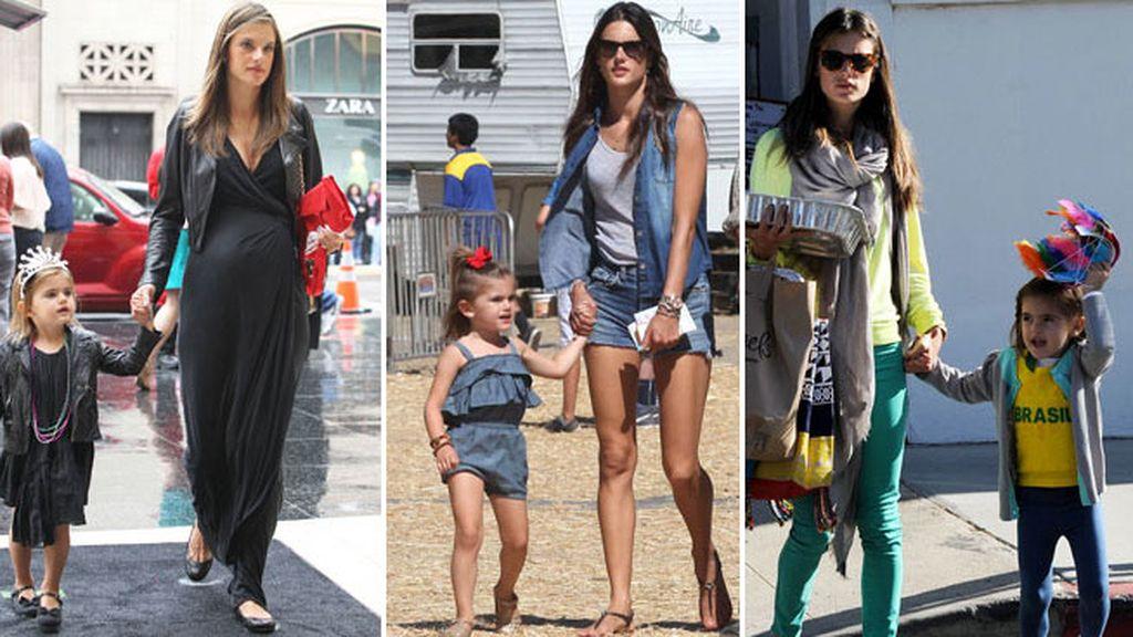Alessandra Ambrosio y su hija, siempre clónicas