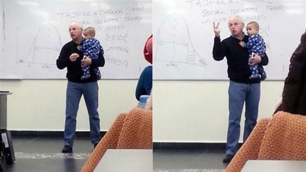 La reacción de un profesor con el hijo de una estudiante causa furor en las redes