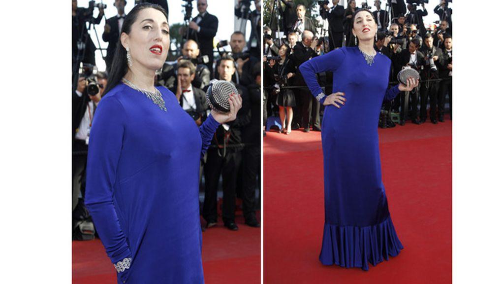 Rossy de Palma, de azul en la alfombra roja