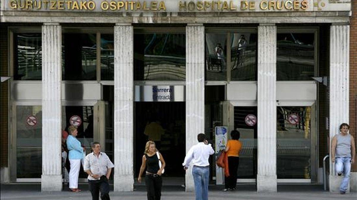 Entrada principal del Hospital de Cruces, en Barakaldo (Vizcaya). EFE/Archivo
