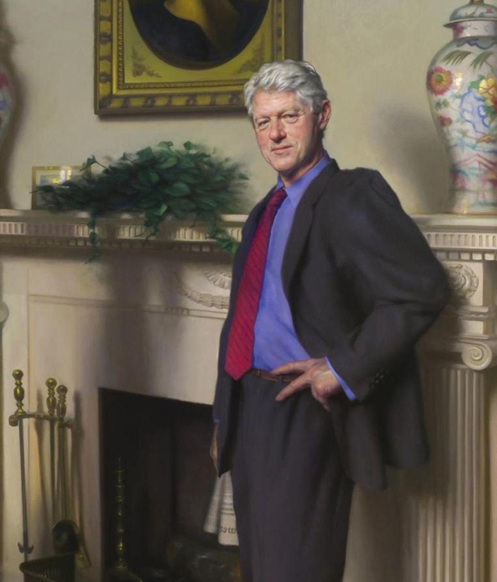Retrato de Bill Clinton realizado por el artista Nelson Shanks