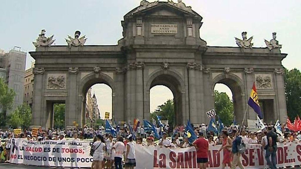 """La """"Marea Blanca"""" defiende la Sanidad Pública en Alcalá"""