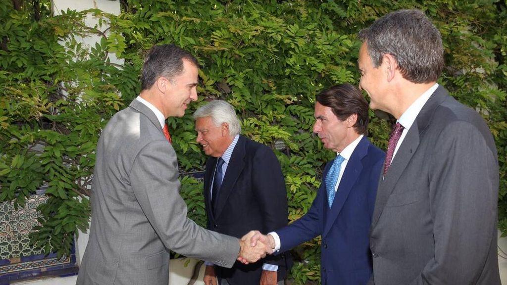 Don Felipe preside el Patronato del Real Instituto Elcano, su último acto como Príncipe de Asturias
