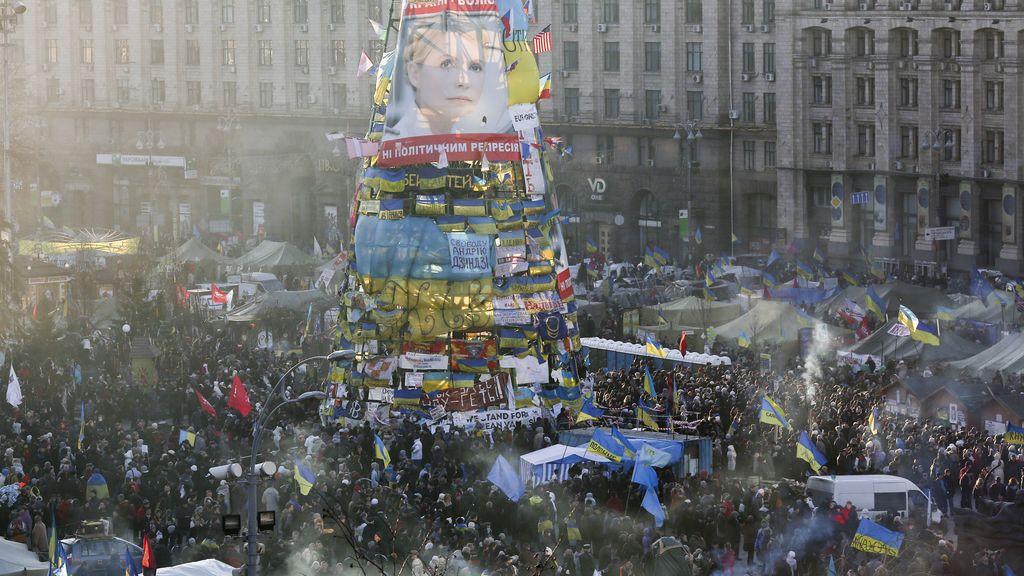 Nueva jornada de protestas en Ucrania