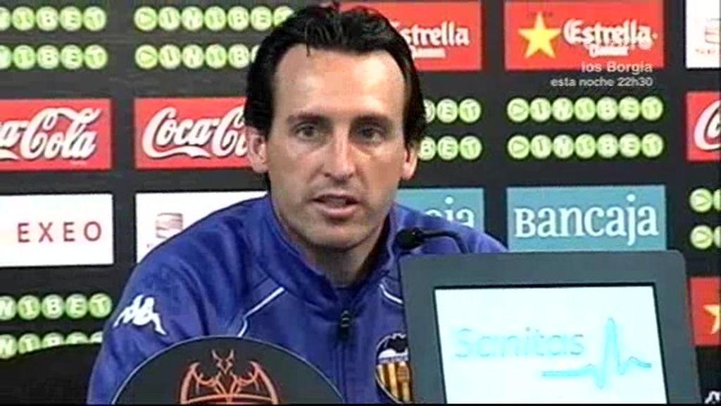 Unai Emery continúa en el Valencia