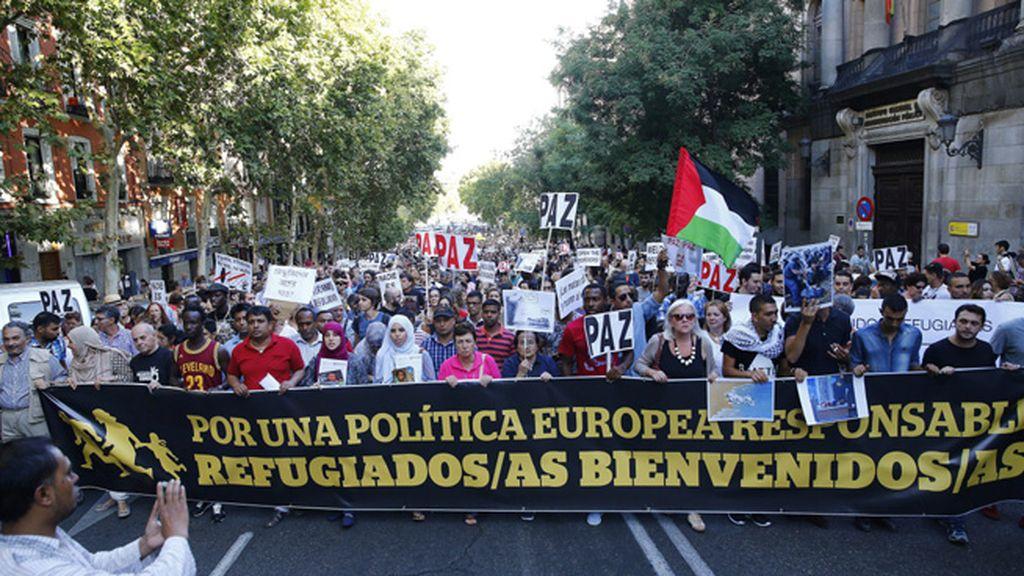 Marcha refugiados Madrid