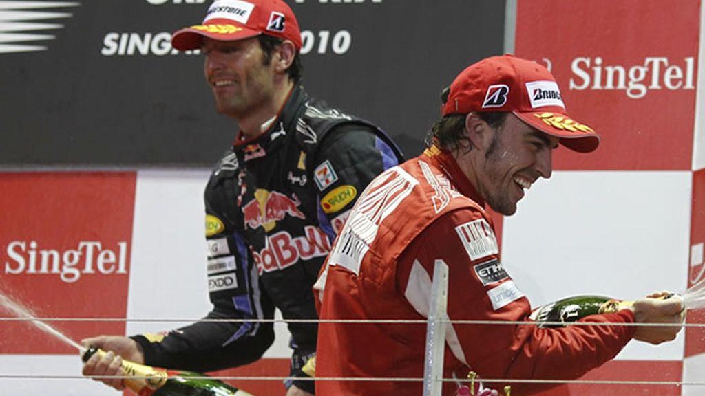 Webber primero en el primer contacto con la pista de Yeongam. Alonso no defrauda y consigue el segundo mejor tiempo