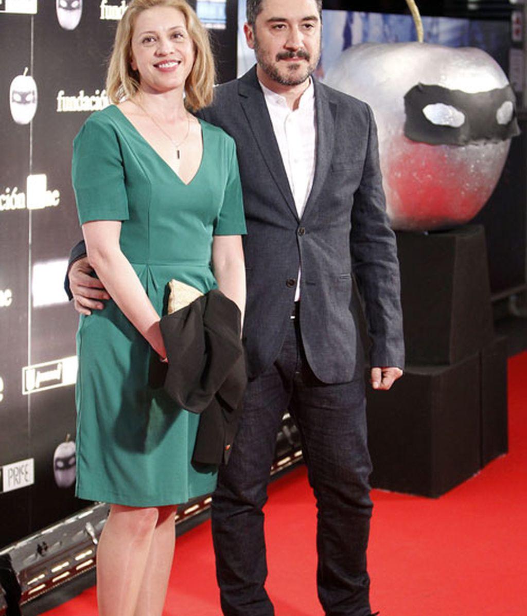 El actor Alfonso Lara y su mujer