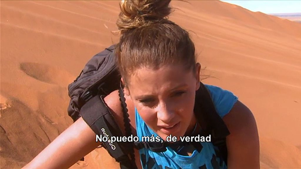 Los rigores del desierto casi han acabado con la ex Miss España