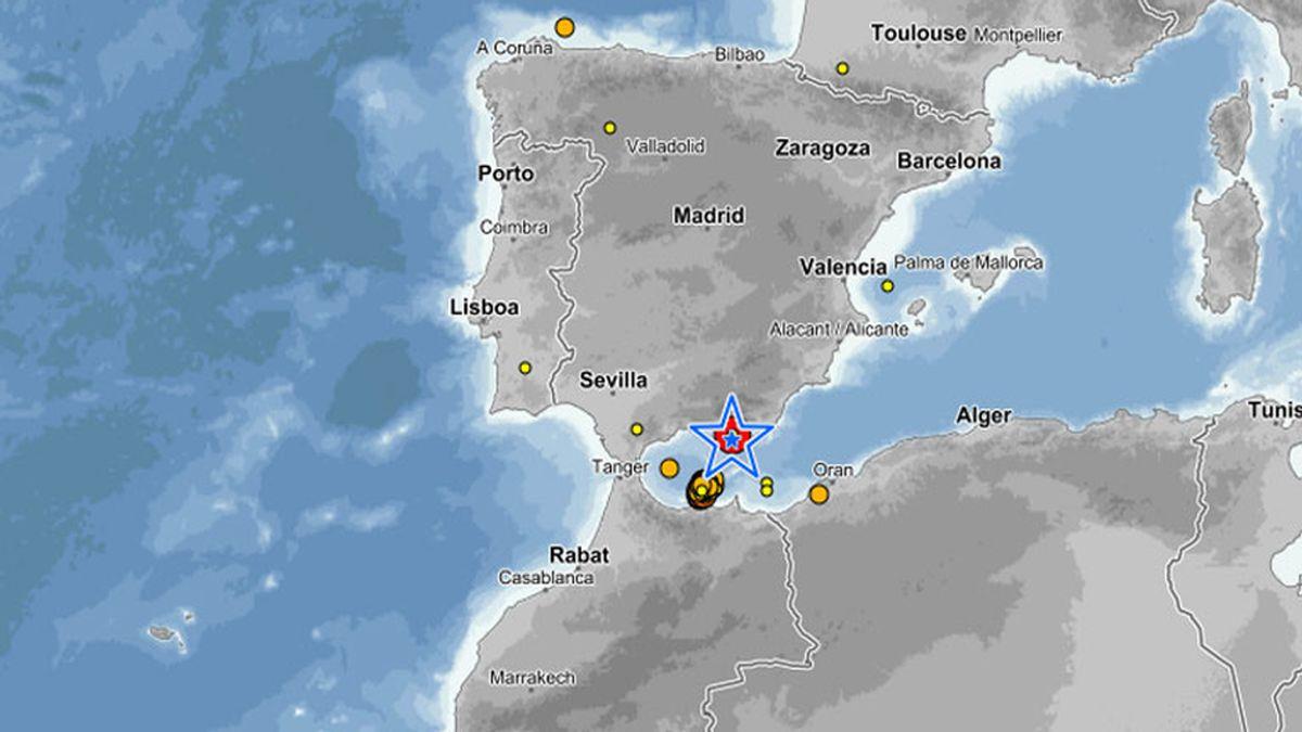 Terremoto de 4,4, grados en el mar de Alborán