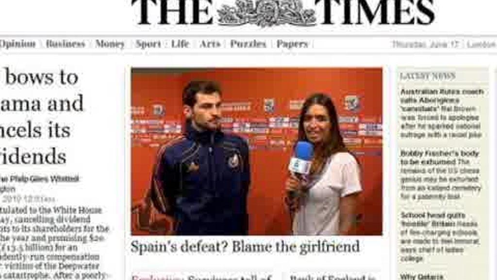 The Times invita a tortilla a Casillas y Carbonero