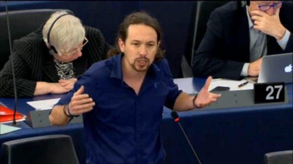 Pablo Iglesias se despide del Parlamento Europeo