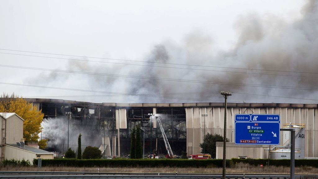Incendio en Burgos