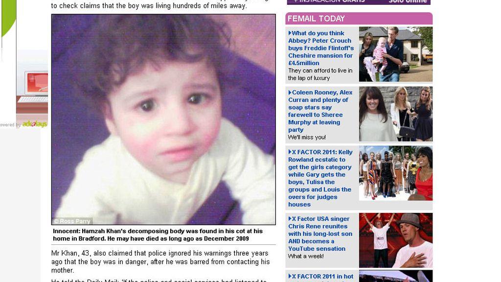 El cadáver del pequeño estuvo dos años enterrado en un sótano.
