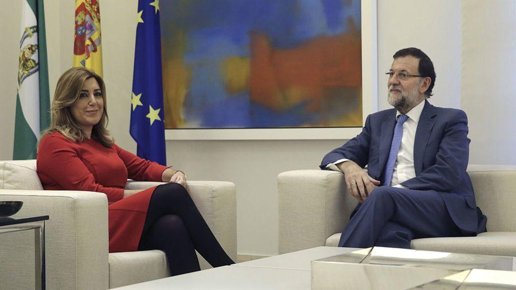 Mariano Rajoy recibe a Susana Díaz para analizar posibles inversiones de la UE en Andalucía