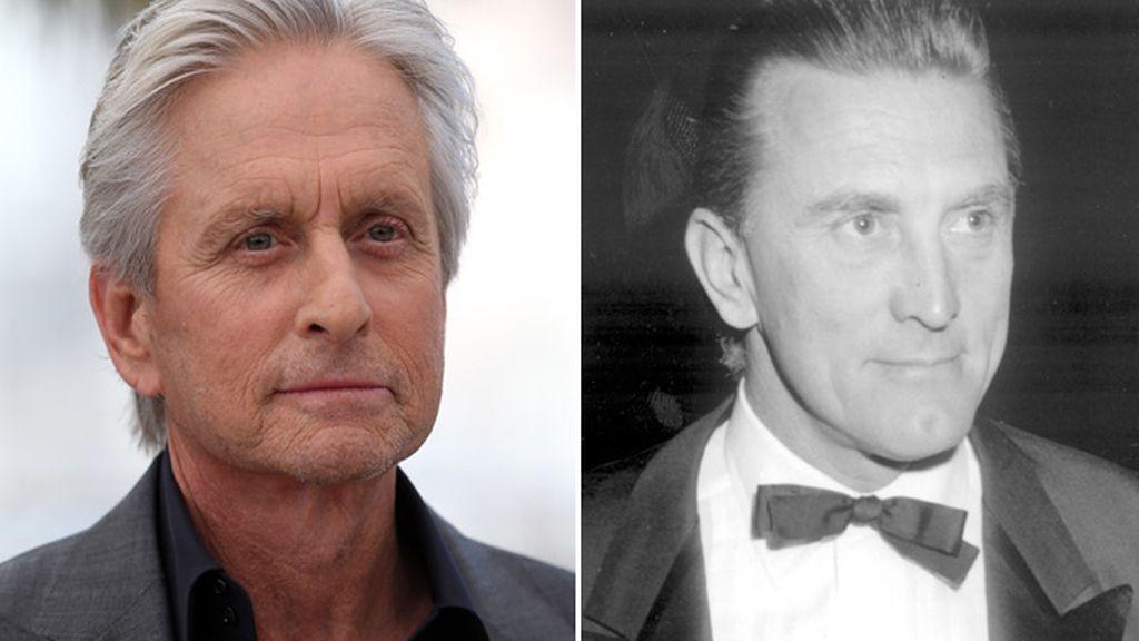 Michael Douglas y su padre Kirk Douglas
