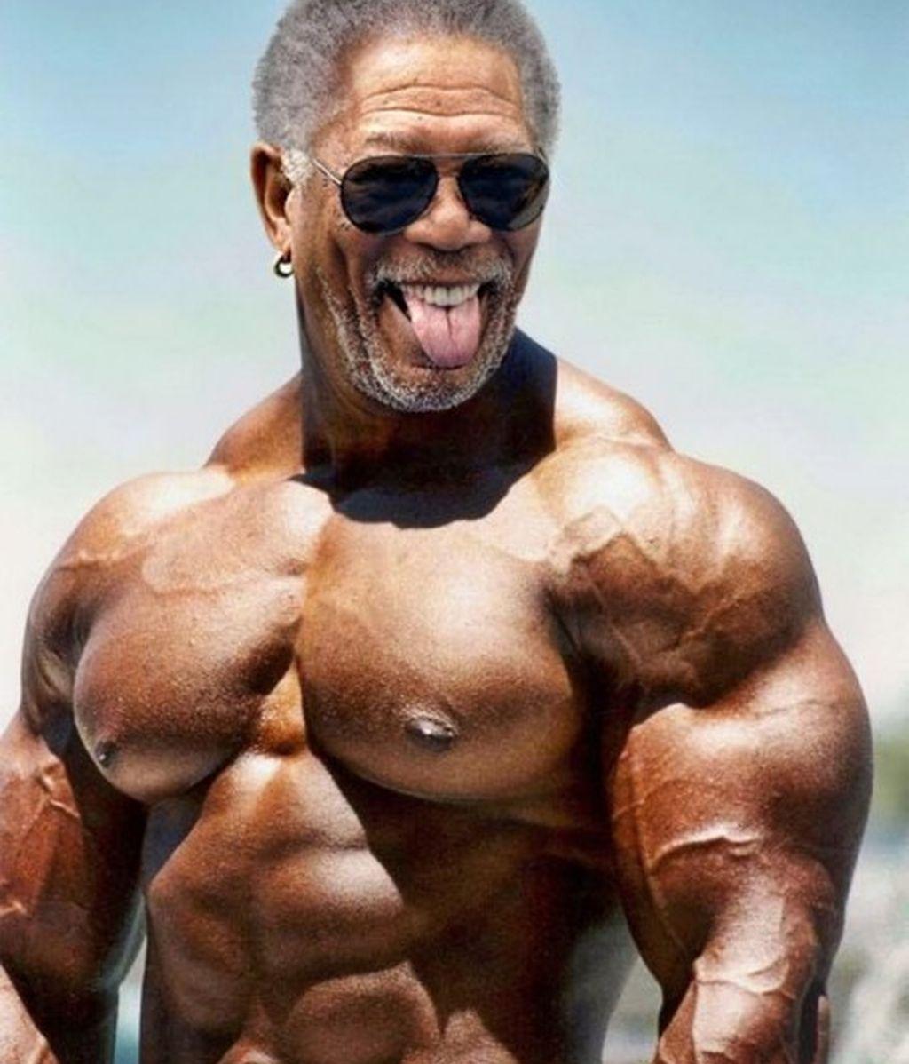 Los famosos lucen músculos
