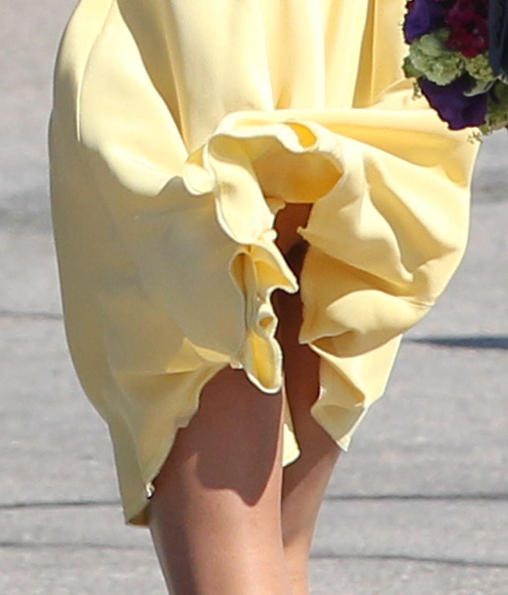 El viento juega una mala pasada a Kate Middleton