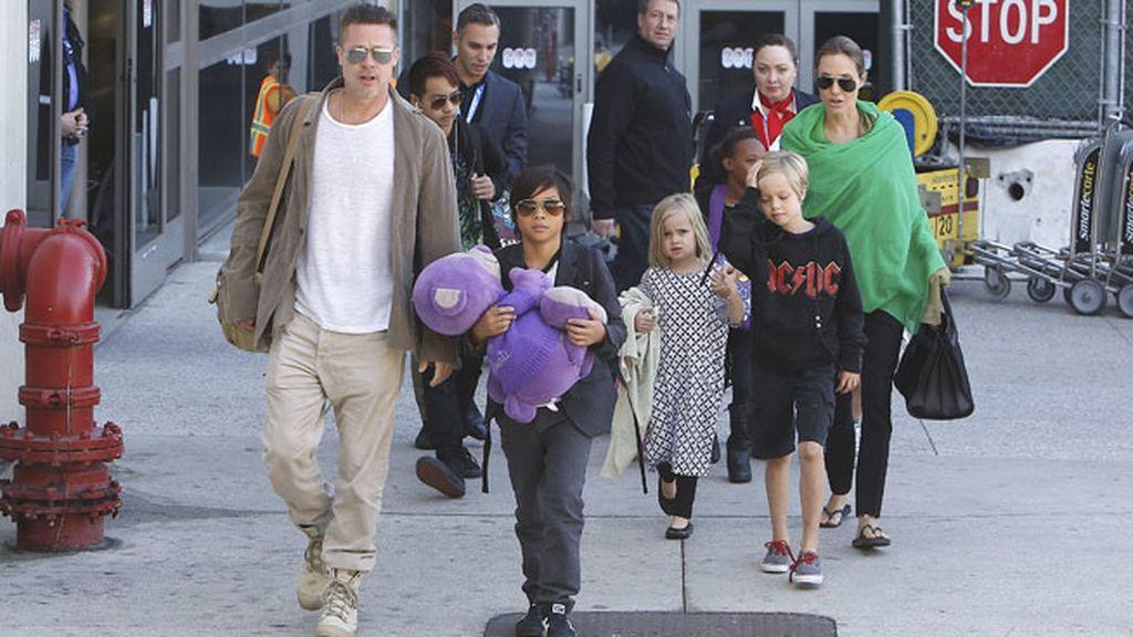 Brad y Angelina forman una de las familias más numerosas entre los vips