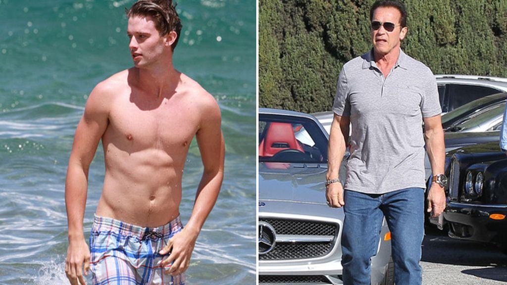 Patrick y su padre Arnold Schwarzenegger