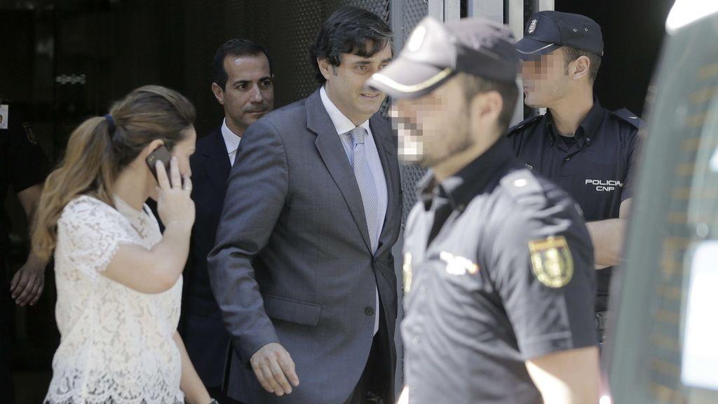 Salvador Victoria sale de la Audiencia Nacional