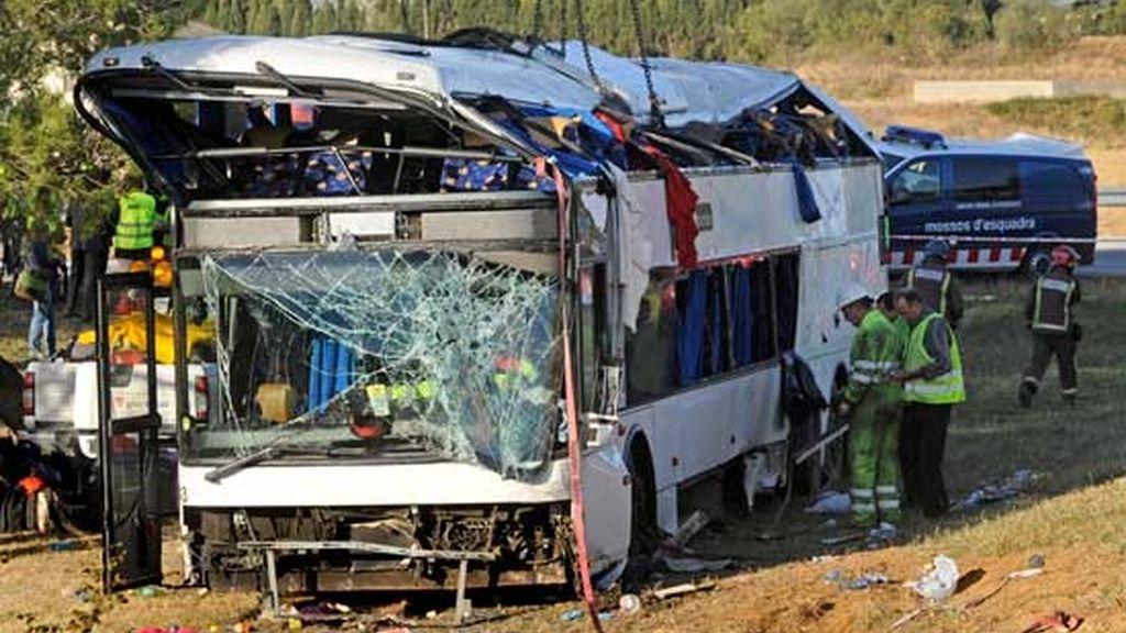 Accidente de autobús en Girona